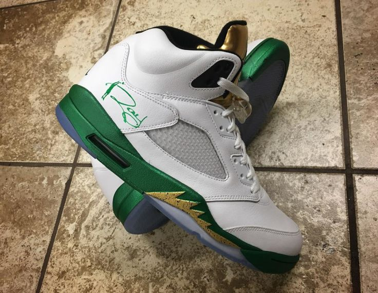 Ray Allen Air Jordan 5 Gold Custom by Mache | Sole Collector