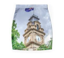 The Clock Tower and Australian Flag at the Historic Town Hall - Bendigo, Victoria Pencil Skirt