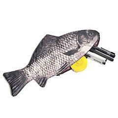progettazione di pesce creativo matita caso sacchetto di scuola forniture per ufficio simpatico regalo di compleanno divertente