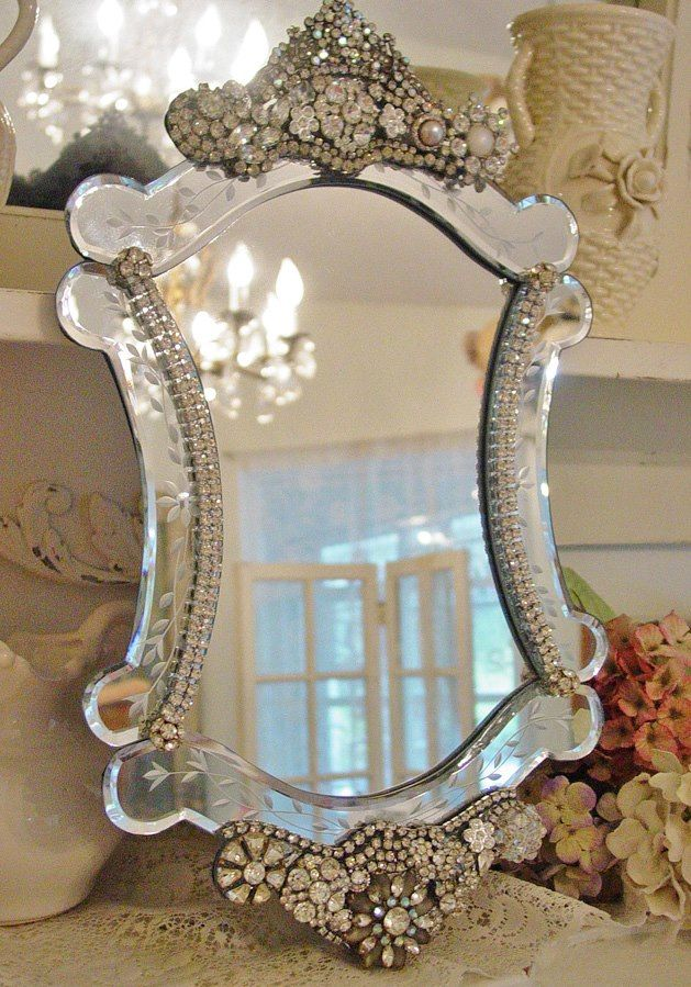 Venetian Mirror DIY makeover idea only! Love the word