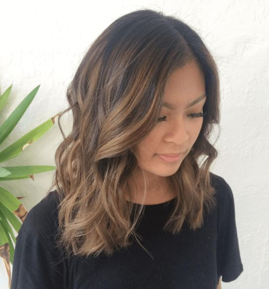 Asian Short Hair Balayage Fashions Brown Highlights