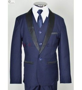 costume Bleu marine Leon