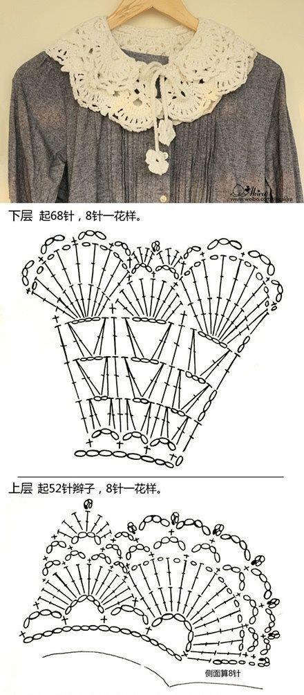 Collar Schema free crochet graph pattern ✿⊱╮Teresa Restegui http://www.pinterest.com/teretegui/✿⊱╮