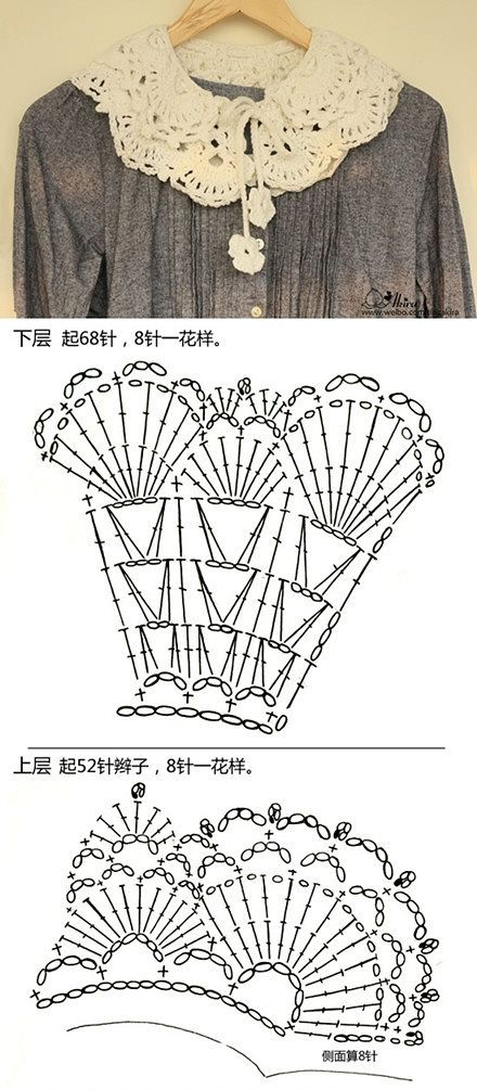 Collar Schema free crochet graph pattern