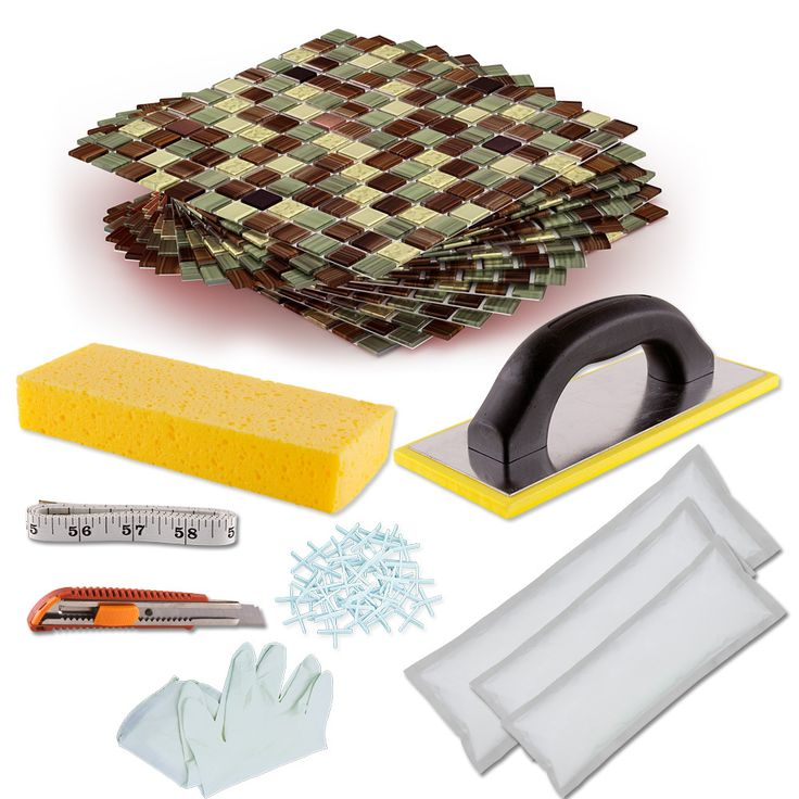 DIY Tile Backsplash Kit 15Ft Amazon | Glass mosaic tiles, Square feet and  Glass