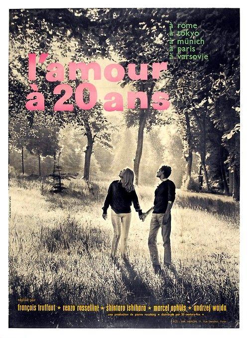 midmarauder: Love at Twenty Film Poster. Truffaut / Rossellini / Ishihara / Ophüls / Wajda.
