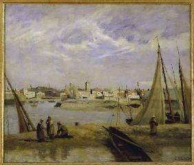 Corot Jean-Babtiste-Camille - Look about a basin of Dünkirchen