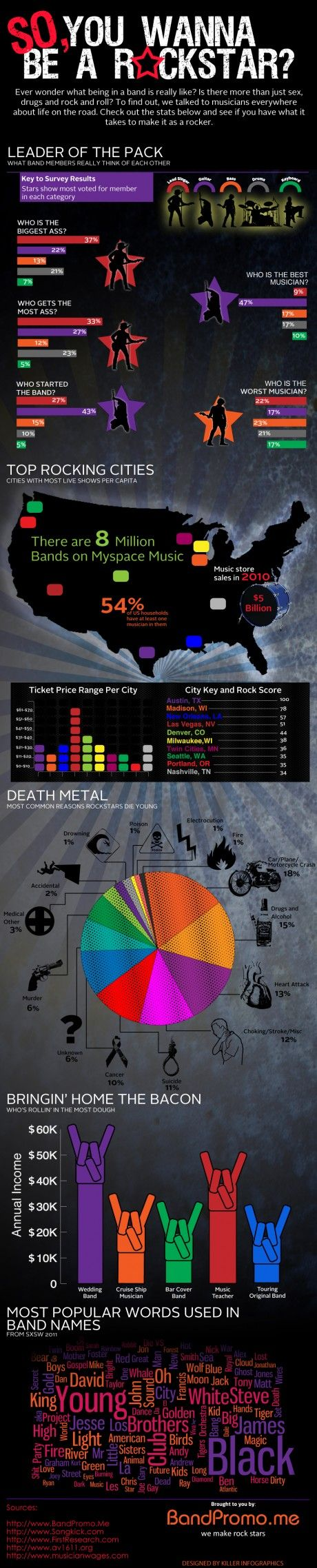 25 best music infographics images on pinterest info graphics so you wanna be a rockstar pooptronica