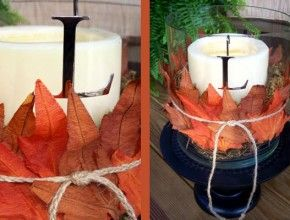 I have the candle stands (burlap ribbon) I have the leaves, candles and twine.  YES!