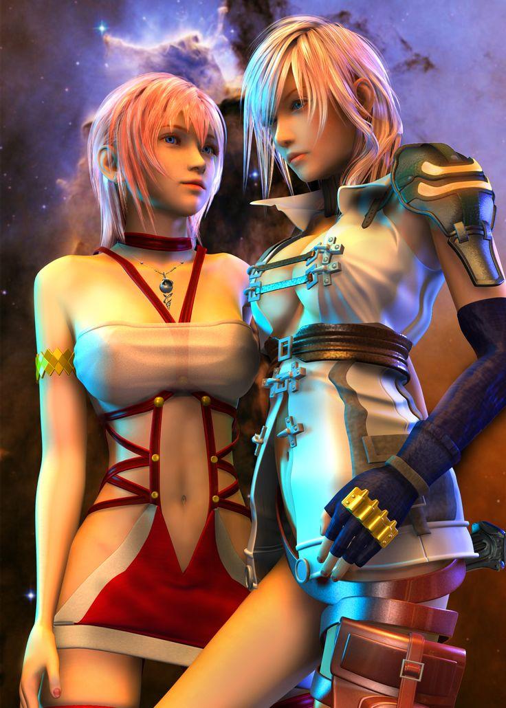 Lightning serah threesome final fantasy xiii