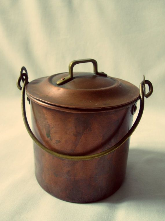 Antique Italian Copper Pot Weathered by NomadicNative on Etsy