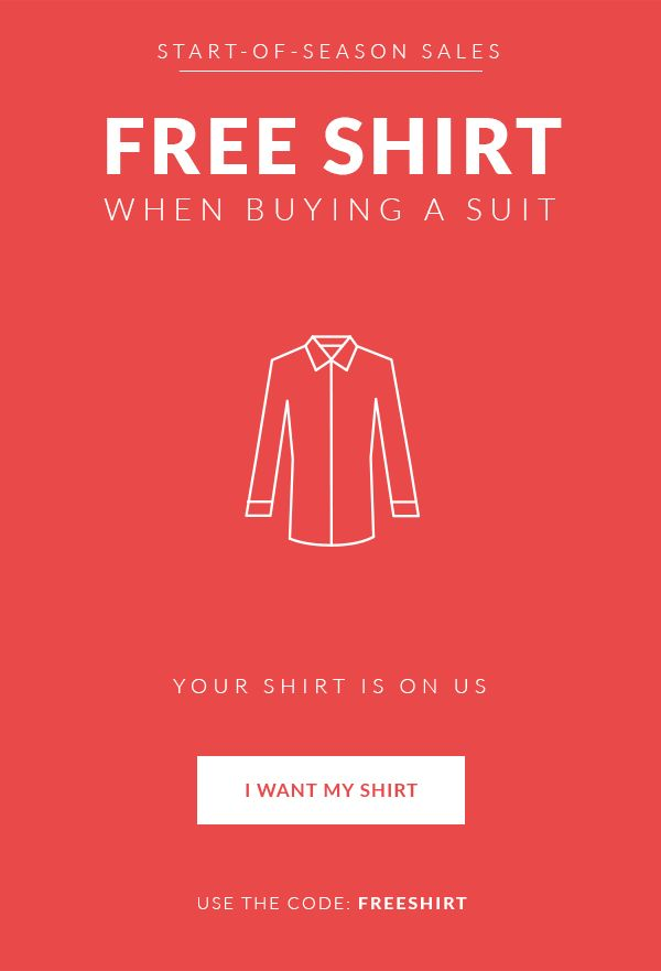 Free Shirt when buying a suit! Tailor4less.com Use the code FREESHIRT