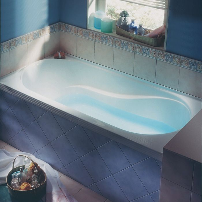 Luxury Bathtub With Integrated Tiling Flange By Alcove / Ficus Collection