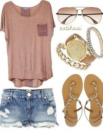 Great outfit for summer...i especially love the watch :)