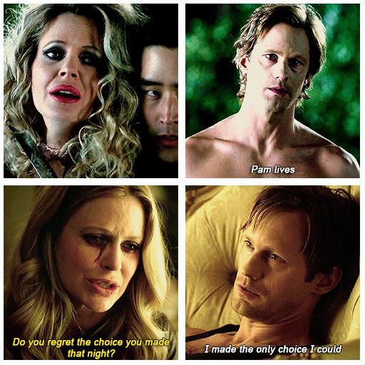 Eric and Pam - True Blood Season 7. Of course Eric Northman chose Pam! True To The End!