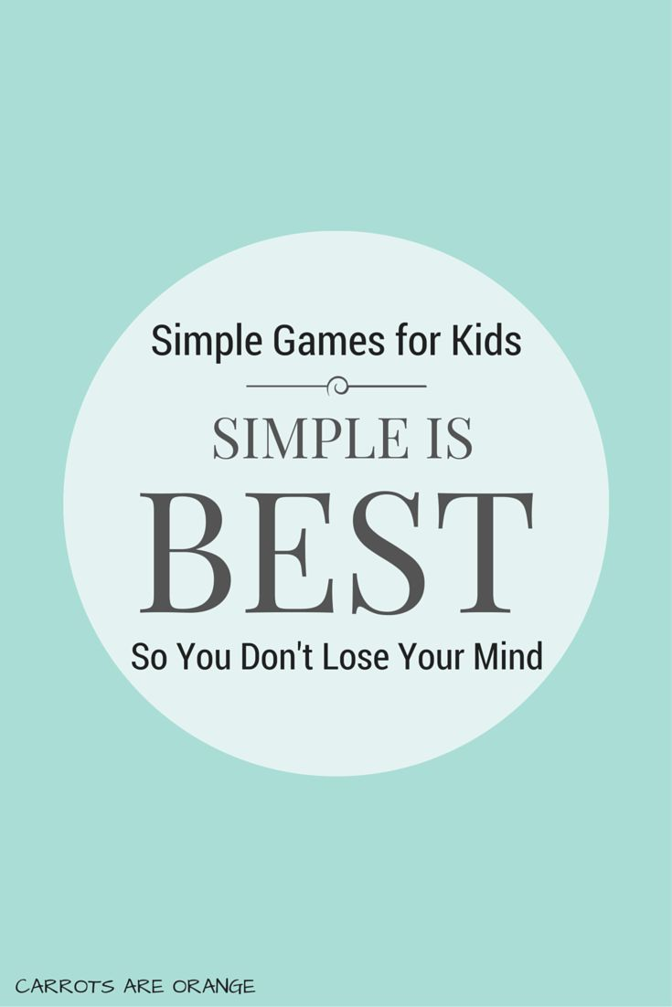Simple is best. Simple games for kids is even better. My boys give evidence to this fact every day. This post includes one of our favorite sanity saving activities plus two variations for you super creative types. {wink.}