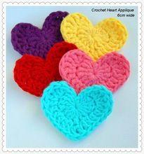 Schöne Gehäkelte Herz Applikation Für Die Dekoration Häkeln Herz