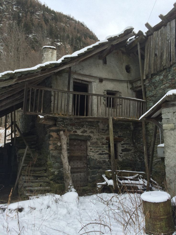 Old mill on Alps