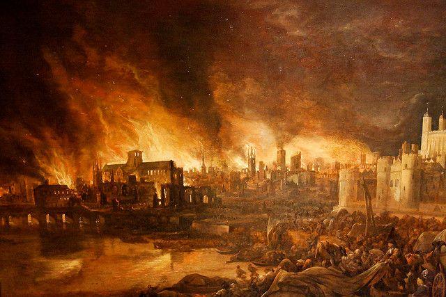 El gran incendio de Londres (1666)