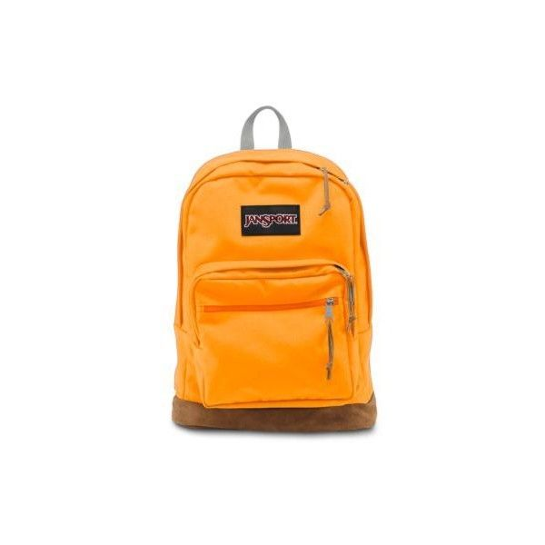 JanSport Right Pack Backpack Orange Gold ($58) ❤ liked on Polyvore featuring bags, backpacks, orange gold, orange bag, jansport daypack, pocket backpack, pocket bag e backpacks bags