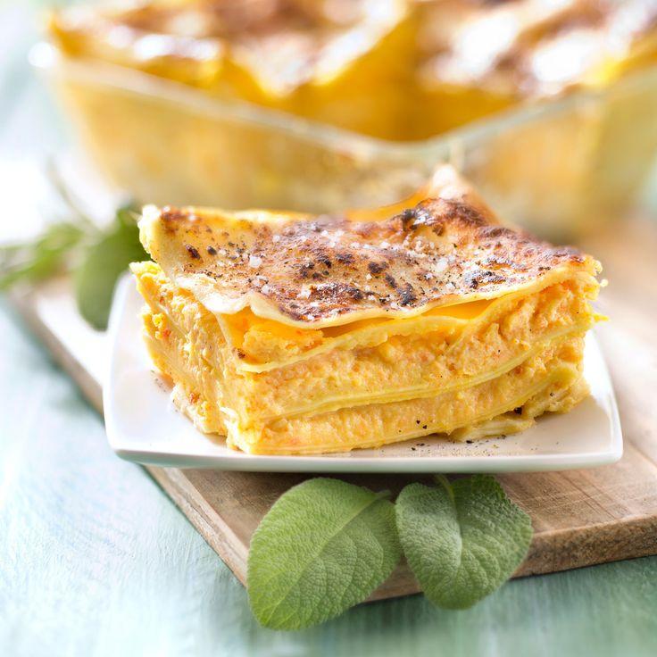 Découvrez la recette Lasagnes à la citrouille et au Boursin sur cuisineactuelle.fr.