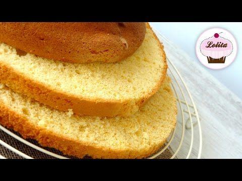 Receta Bizcocho Genovés - Recetas de cocina, paso a paso, tutorial - YouTube