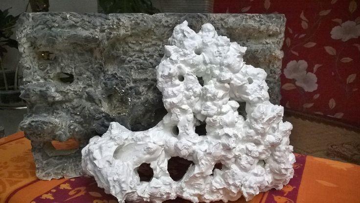 Грот рифовый из белого цемента. На заказ.