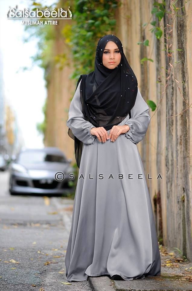 Muslimah Grey Dress