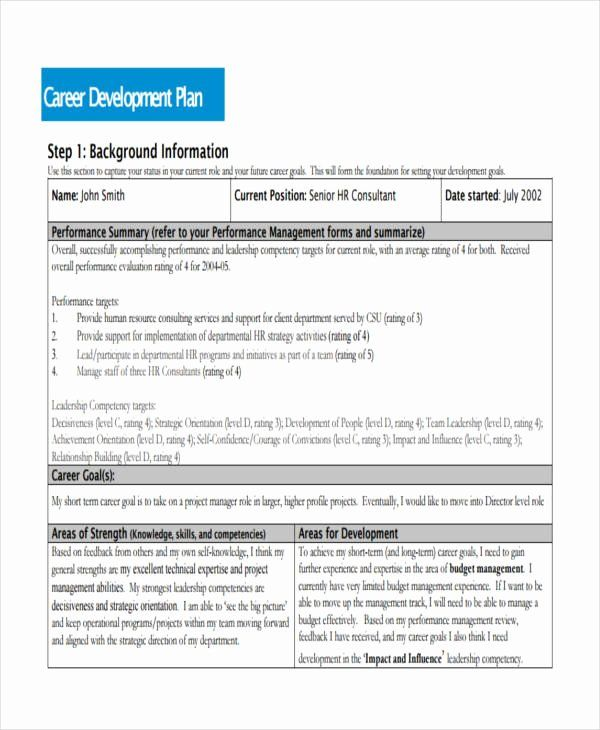 Employee Career Development Plan Template Openview Labs Professional Development Plan Career Development Plan Personal Development Plan Template