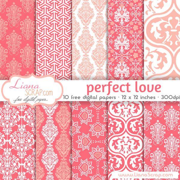 Paquete libre de papel digital - Set Amor Perfecto