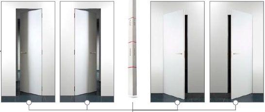 V stavebnom otvore uvidíte iba dverné krídlo, tvoriace s okolitou stenou…