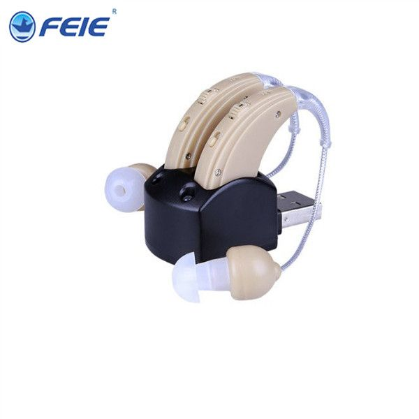A Pair of Analog Rechargeable Hearing Aid Behide the Ear S-109S aide auditive