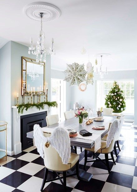 Traditional elegance takes a relaxed break by adding a few angel wings to the backs of chairs.  Home Beautiful Magazine Australia