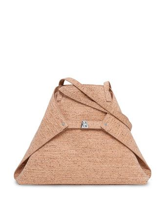 Ai+Medium+Cork+Shoulder+Bag+by+Akris+at+Neiman+Marcus.