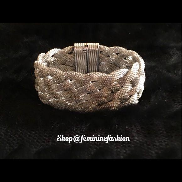 Silver Mesh Bracelet Silver Mesh Bracelet with Magnetic Closure.  Classy! Farah Jewelry Jewelry Bracelets