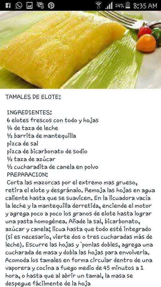 Tamal de elote #recetasmexicanas