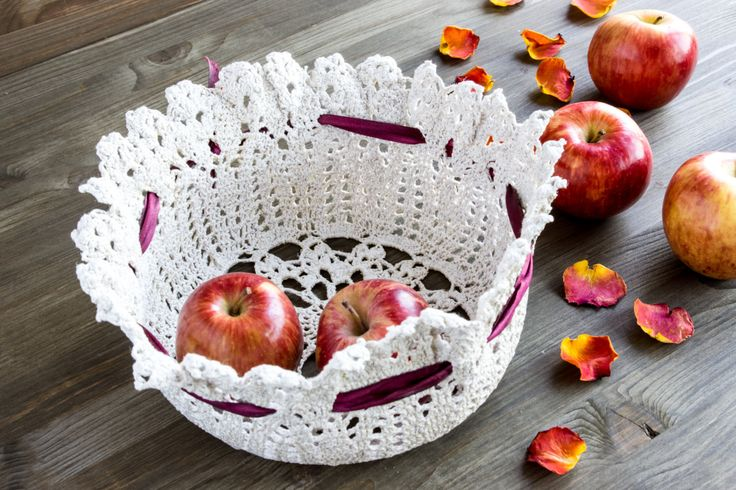 Handmade linen crochet vase / flowerpot. Lace basket for flowers Bowl for fruits. Кружевная ваза-корзинка крючком by WorthWondering on Etsy Absolutely handmade crochet vase.  Made of natural linen.  Eco-friendly.  Keep it's form magically and because of special mixture. Great decoration for festive table and weddings. Wonderful gift for lovers of lace.    Color: Natural linen (beige)  Size: Bottom 19cm= 7.5in          Top 26cm= 10in         Height  11cm= 4.3in Material: Linen