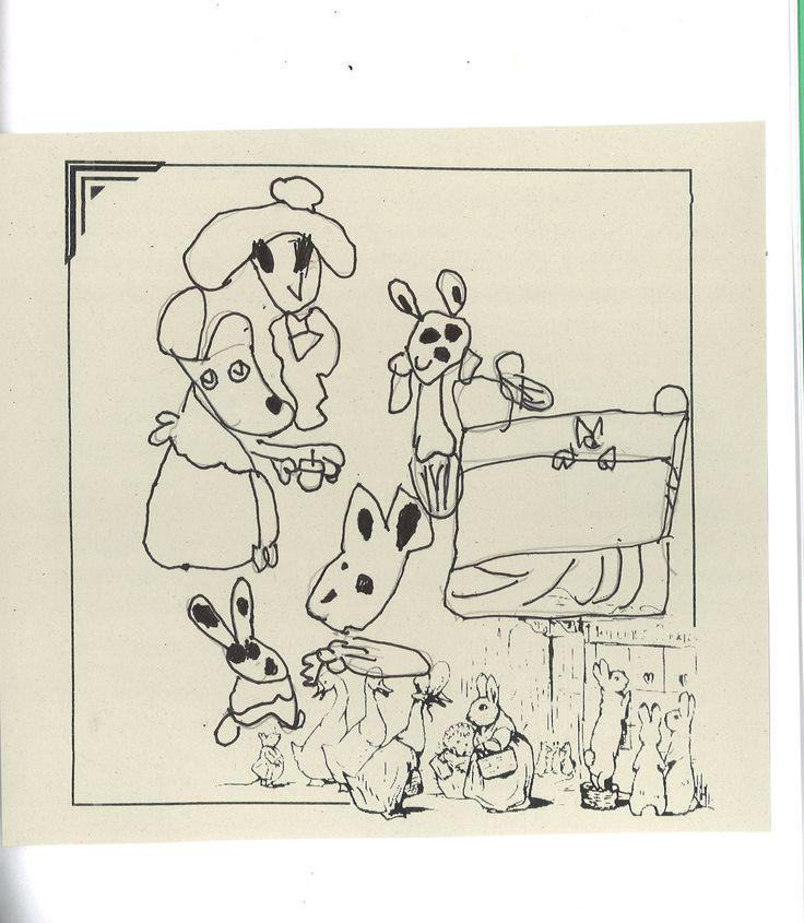 Beatrix Potter in ink by Poppy