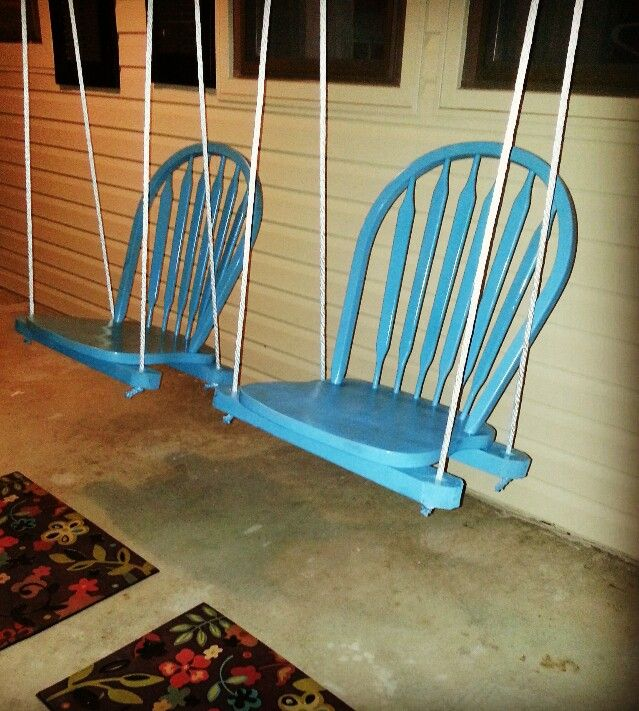 Homemade Porch Swing Chairs Love This Idea So Easy To Make
