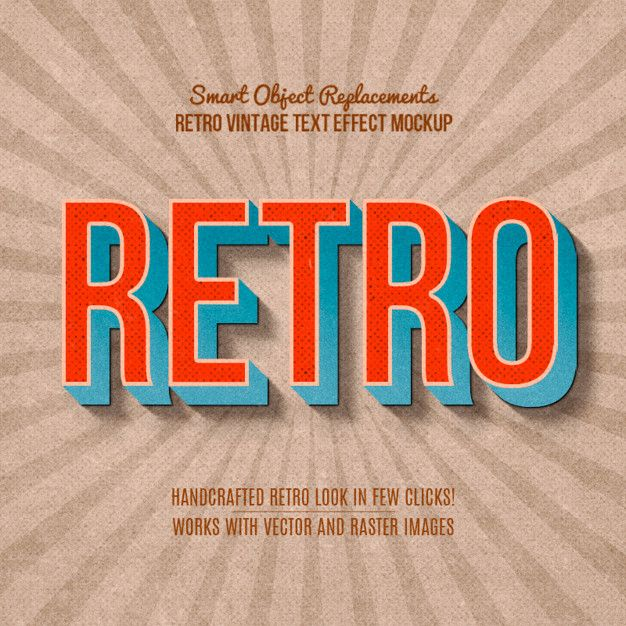 Vintage Retro Text Effect In 2020 Retro Text Text Effects Retro Typography