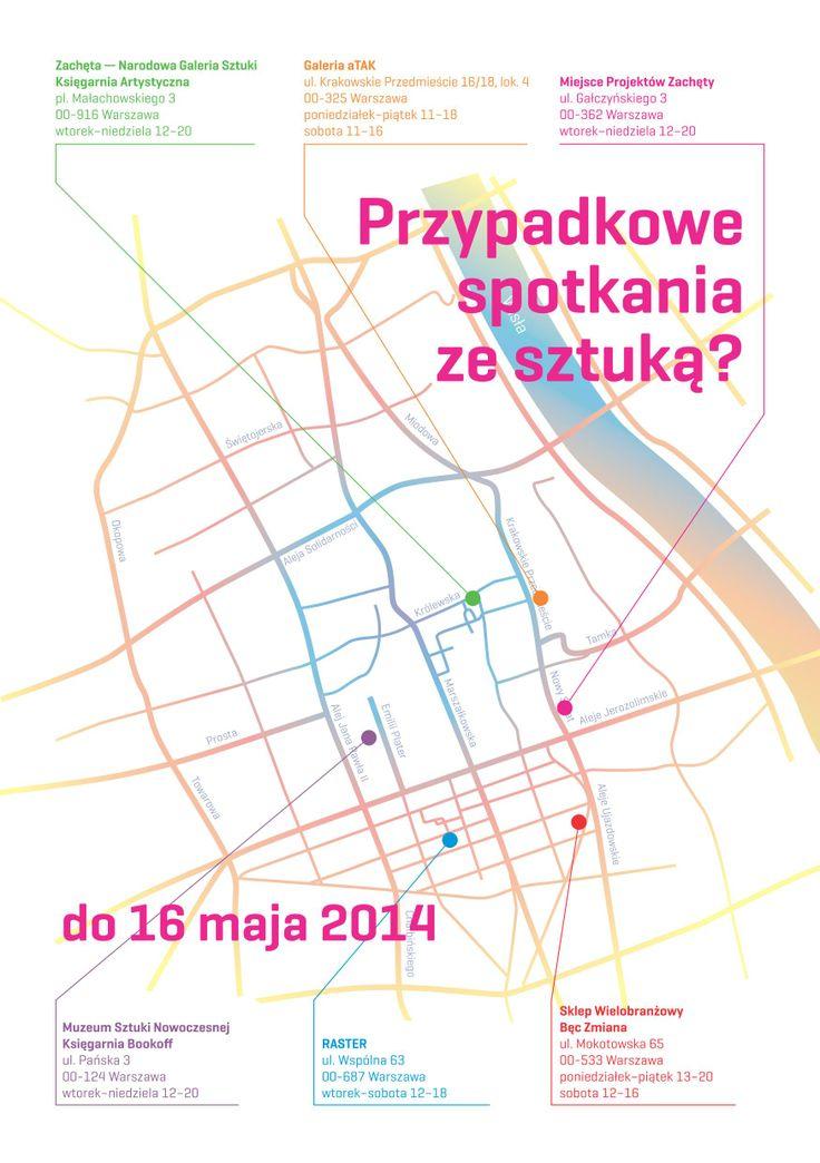 Przypadkowe spotkania ze sztuką? - WIOSENNA GRA MIEJSKA. W zabawie udział bierze sześć warszawskich instytucji i galerii: Zachęta, Miejsce Projektów Zachęty, Muzeum Sztuki Nowoczesnej, Raster, Galeria aTAK, Bęc Zmiana. http://artimperium.pl/wiadomosci/pokaz/266,przypadkowe-spotkania-ze-sztuka-wiosenna-gra-miejska#.U1z5_Pl_uSo