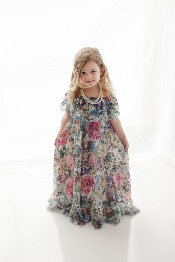6f2197503c9 Lace Flower Girl Maxi Dress