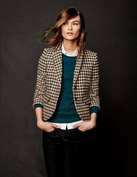 British Tweed Blazer WE501 Clothing at Boden