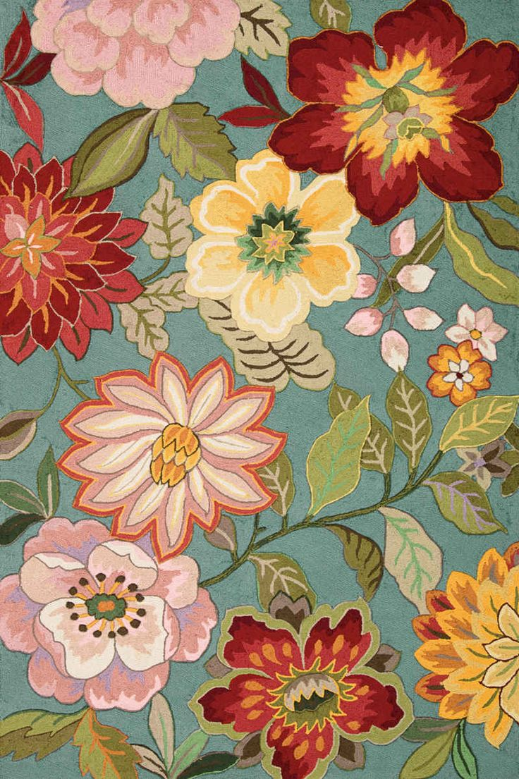 A Stunning Floral Area Rug For Any Home Contemporary And