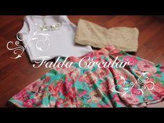 ▶ Como hacer una Falda circular perfecta!!! (Trazo y Confección) - YouTube