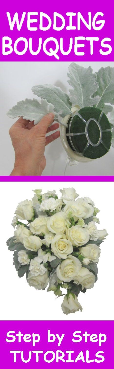 Winter Wedding Bouquets - Free Flower Tutorials  Learn how to make bridal bouquets, wedding corsages, groom boutonniere, church decorations and reception hall centerpieces.  Buy wholesale flowers and discount florist supplies.