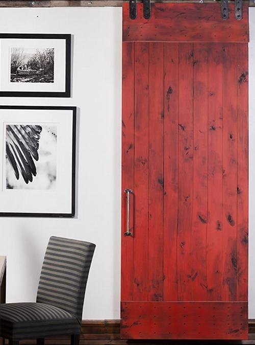 Porta scorrevole Barn Doors red 90x210 XLAB DESIGN