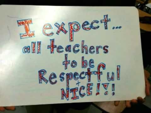 What do students expect from teachers?