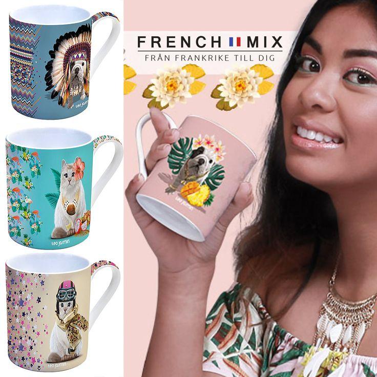 Söker du färgglada muggar till dig eller som present att ge bort? Hos oss kan du hitta originella koppar och espresso muggar i porslin. Beställ tryggt och enkelt på Frenchmix. #frenchmix #mugg #muggar #kafemugg #kafe #porslin #franskdesign #franskstil #tillhemmet #paus #fika #kopp