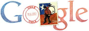Google Doodle of the Day - Chile Independence Day 2012